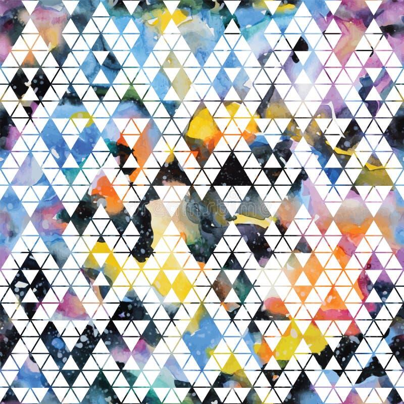 Stammenmelkweg naadloos patroon stock illustratie