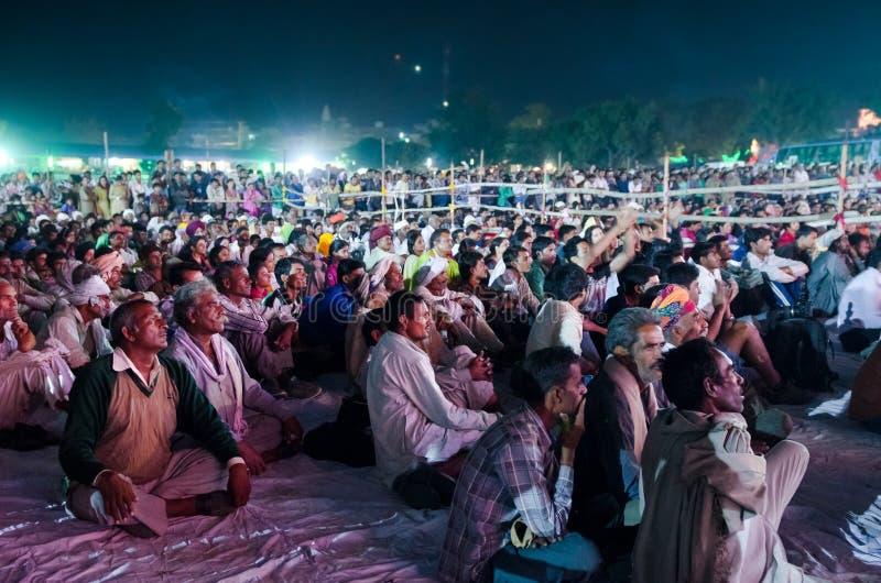 Stammenmensen bij Pushkar-Kameelmarkt, Rajasthan, India stock afbeeldingen