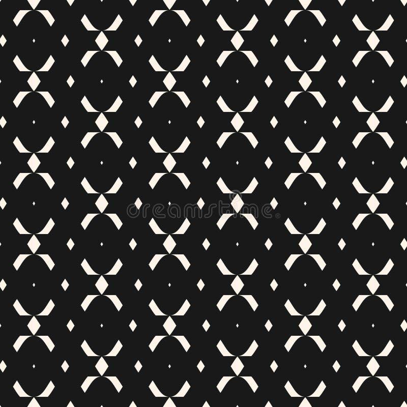 Stammes- ethnisches nahtloses Muster mit einfachen geometrischen Formen, Rauten, Kreuze stock abbildung