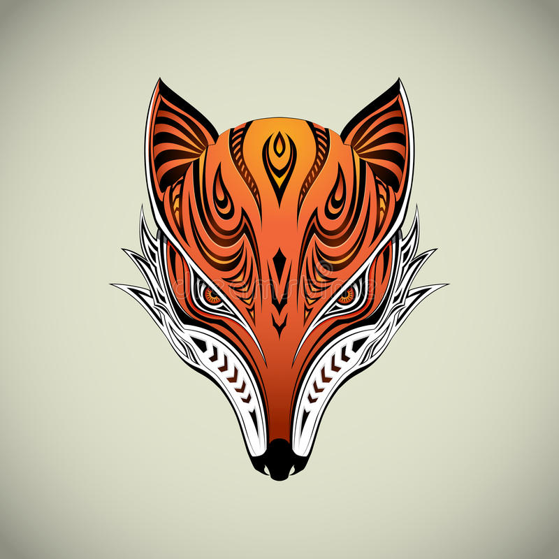 Stammes- Fox vektor abbildung