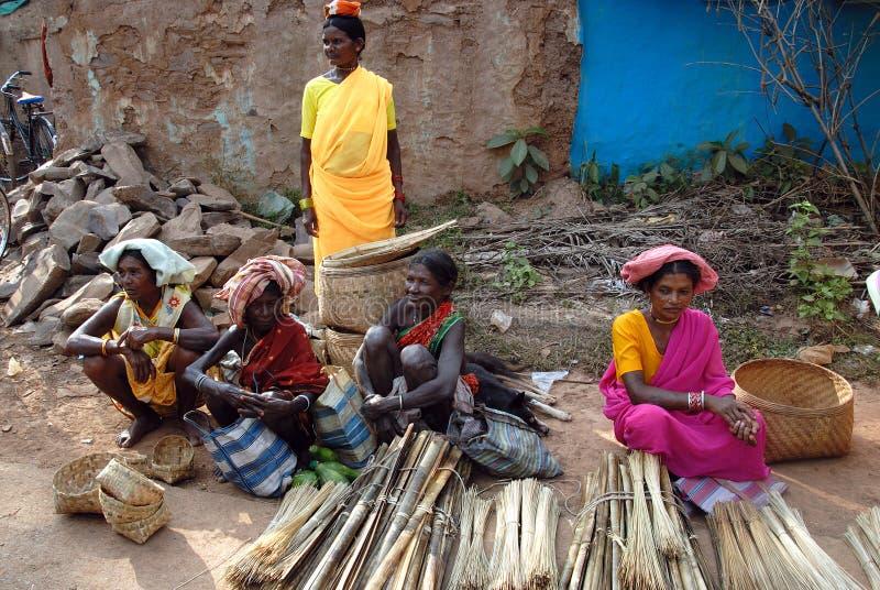 Stammes- Frauen in Indien lizenzfreies stockbild