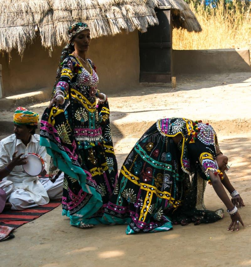 Stammes- Frauen Rajasthani stockfotografie