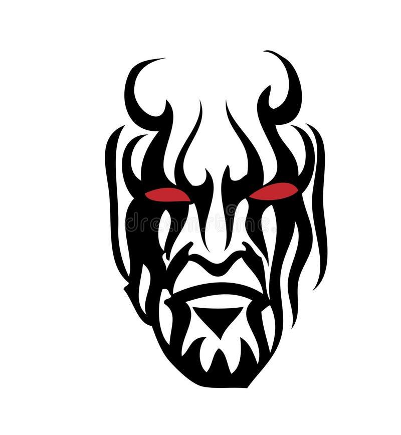 Stammes- Gesicht