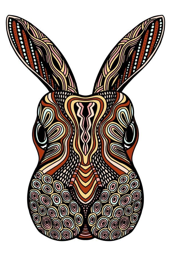 Stammes- kopiertes Kaninchen stock abbildung
