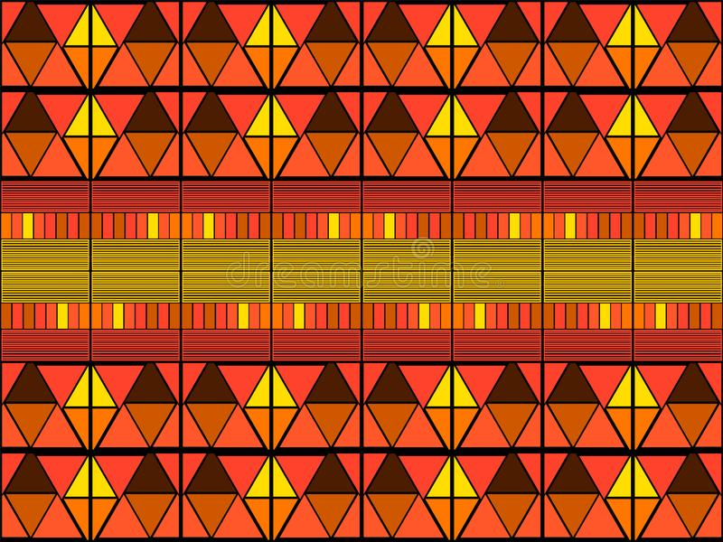 Stammes- Kunstdruck Ikat Nahtloses afrikanisches Muster stockbild