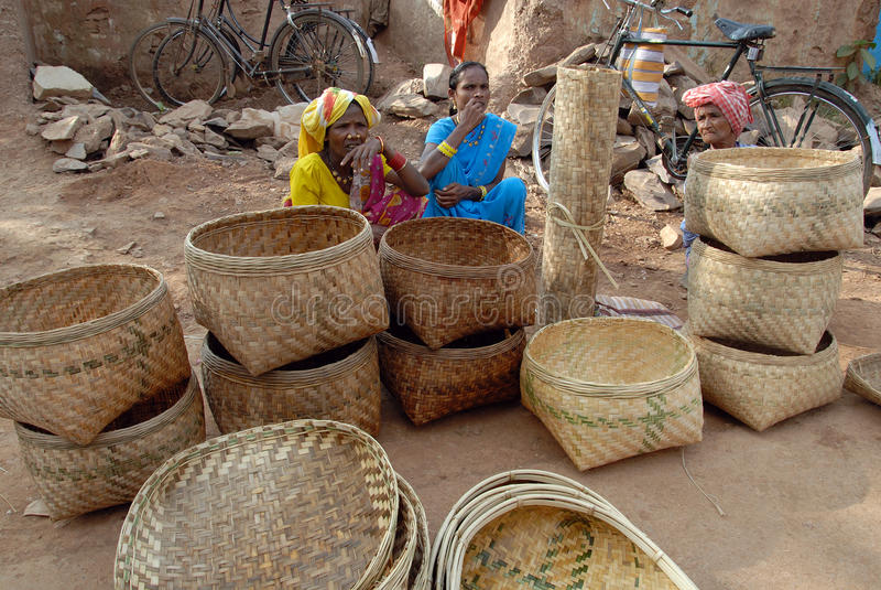 Stammes- Leute in Indien stockbilder