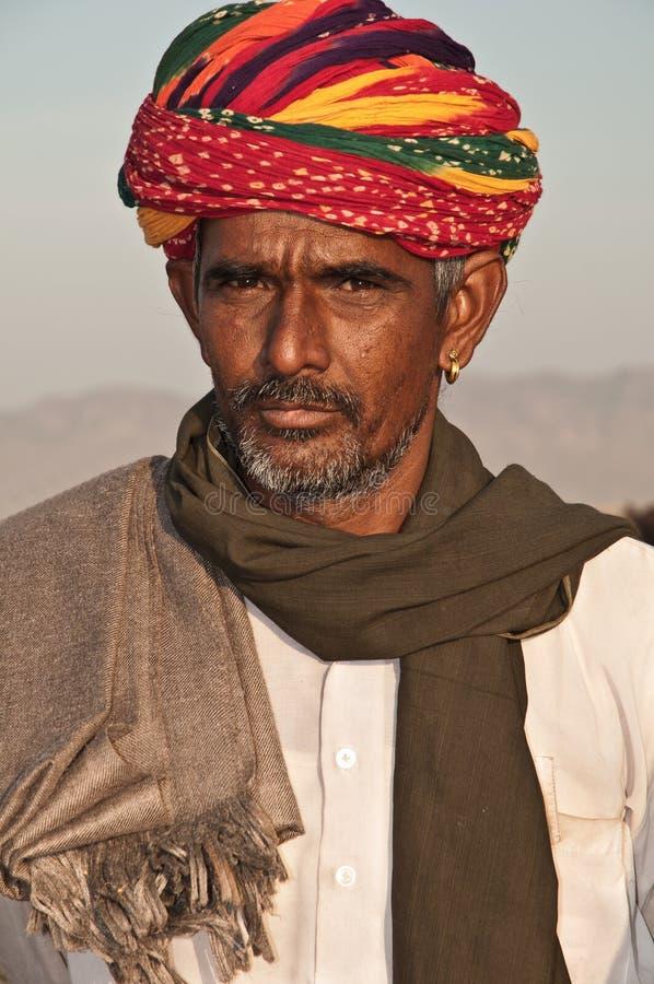 Stammes- Mann von Rajasthan stockbild