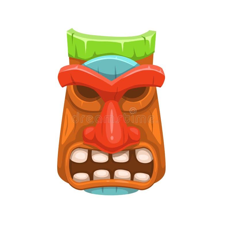Stammes- Maskenvektorillustration lizenzfreie abbildung
