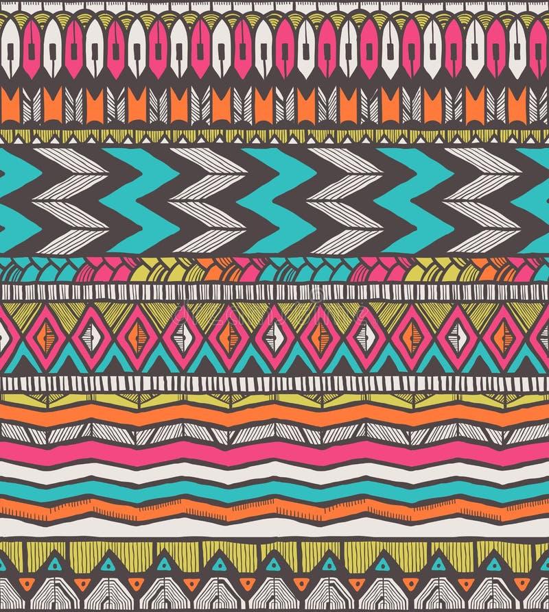 Stammes- Muster lizenzfreie abbildung