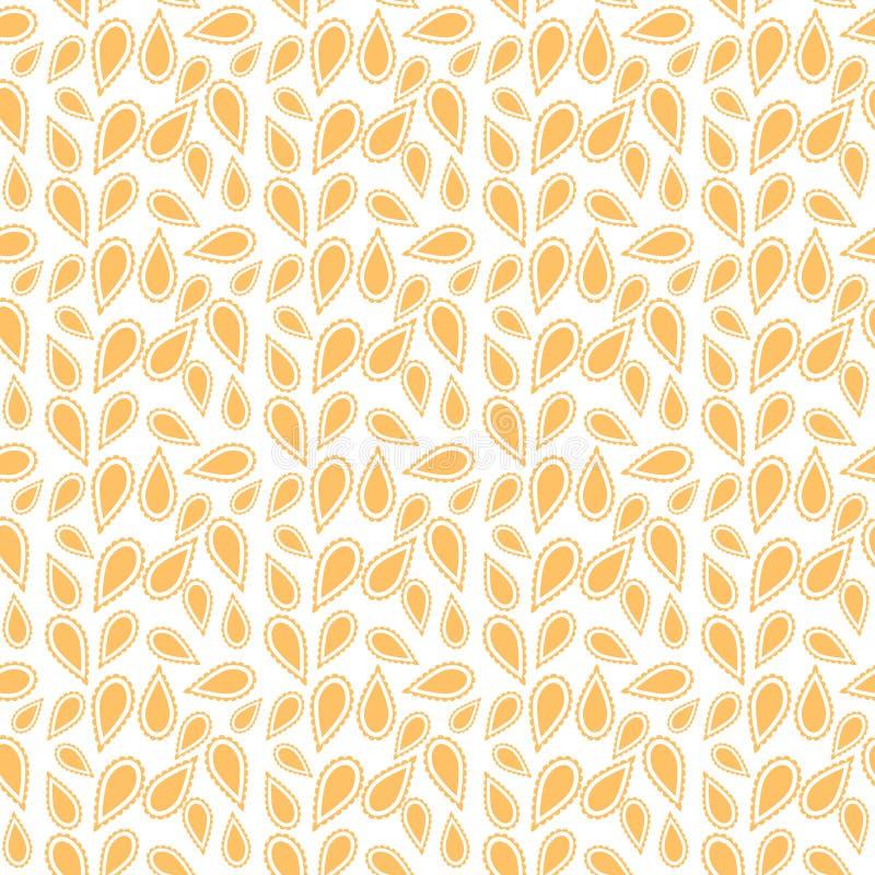 Stammes- Muster in der gelben Farbe stock abbildung