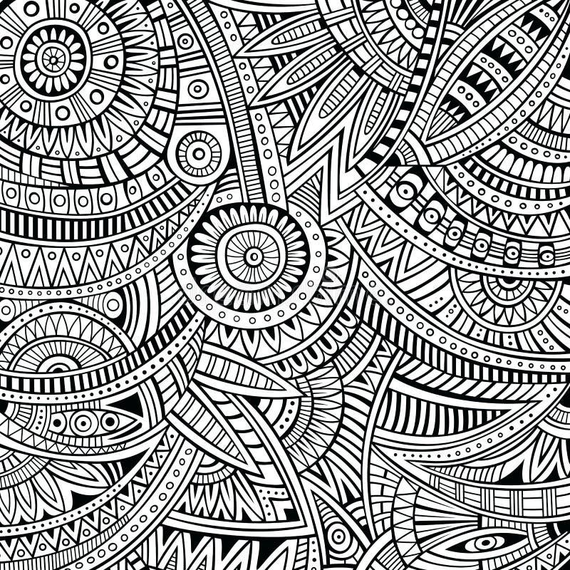 Stammes- Muster des ethnischen Hintergrundes des abstrakten Vektors vektor abbildung