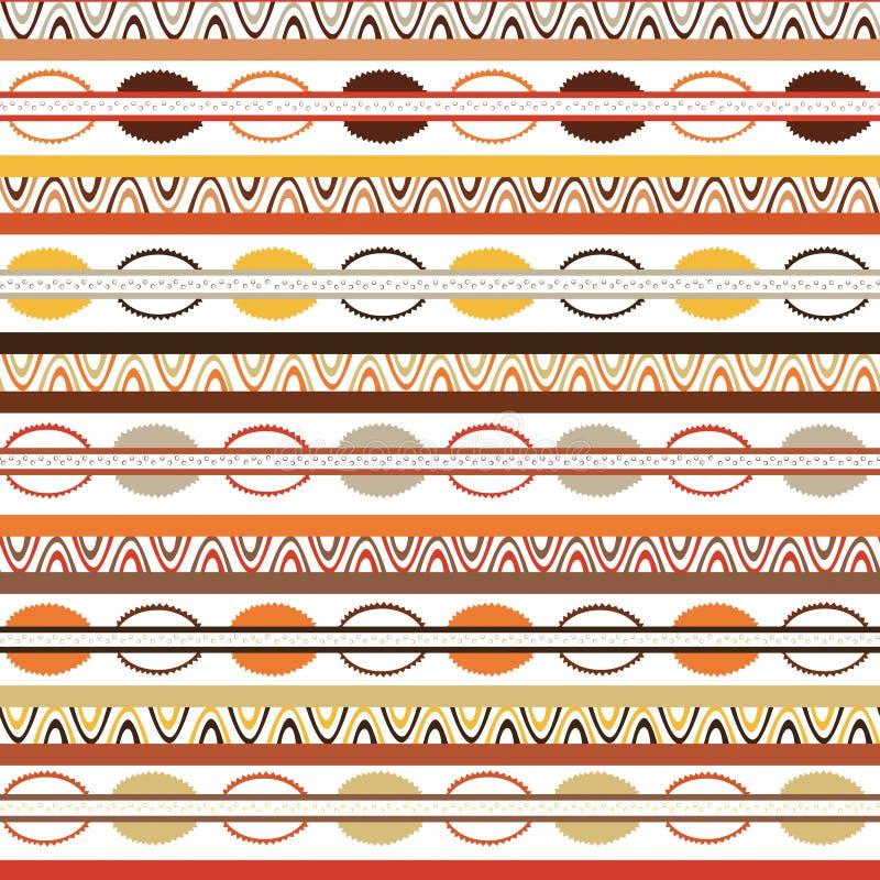 Stammes- Muster mit Motiven von afrikanischen Stämmen von Mittel-Kenia lizenzfreie abbildung