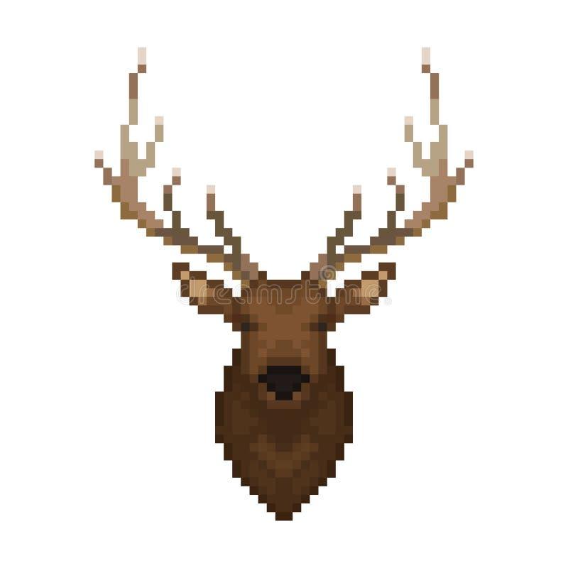 Stammes- Muster Nahtloses glückliches Familienmuster des Pixels Art Wildes Tier vektor abbildung