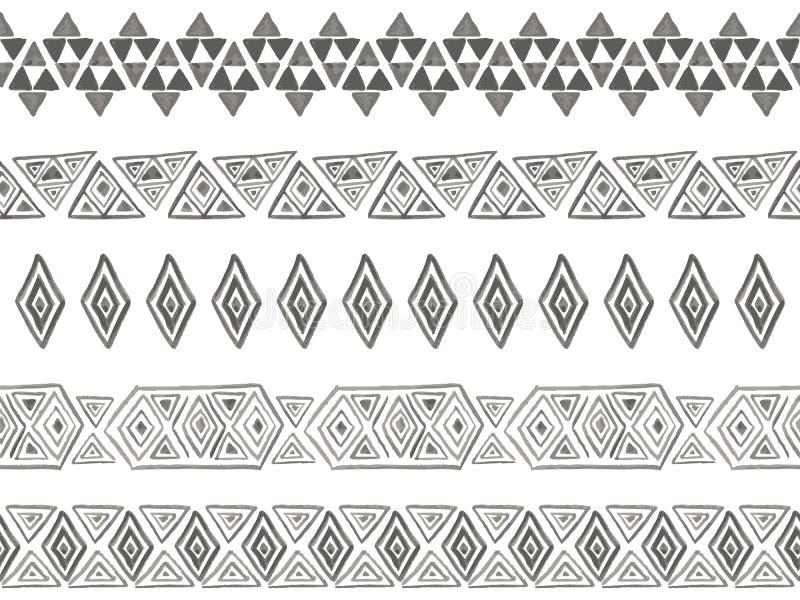 Stammes- nahtlose Bürsten des Vektors stock abbildung