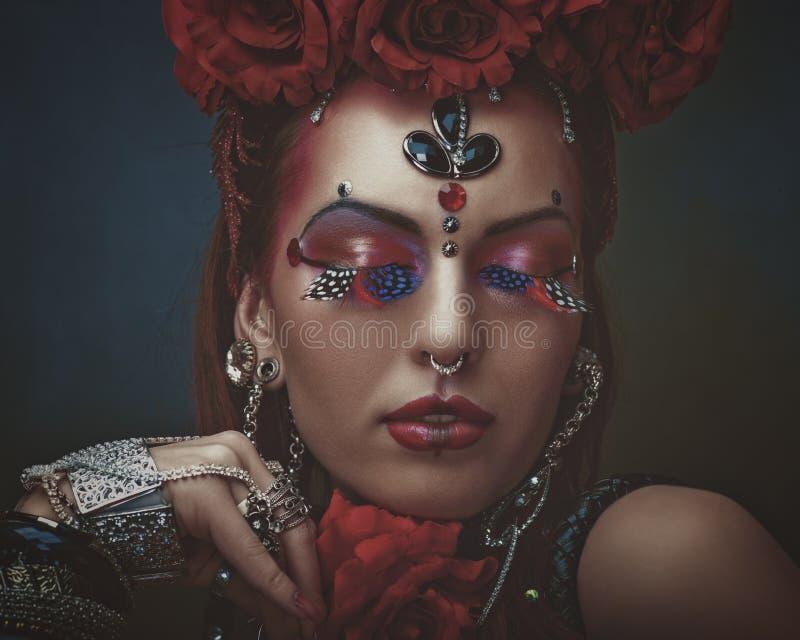 Stammes- Tänzer stockfotos