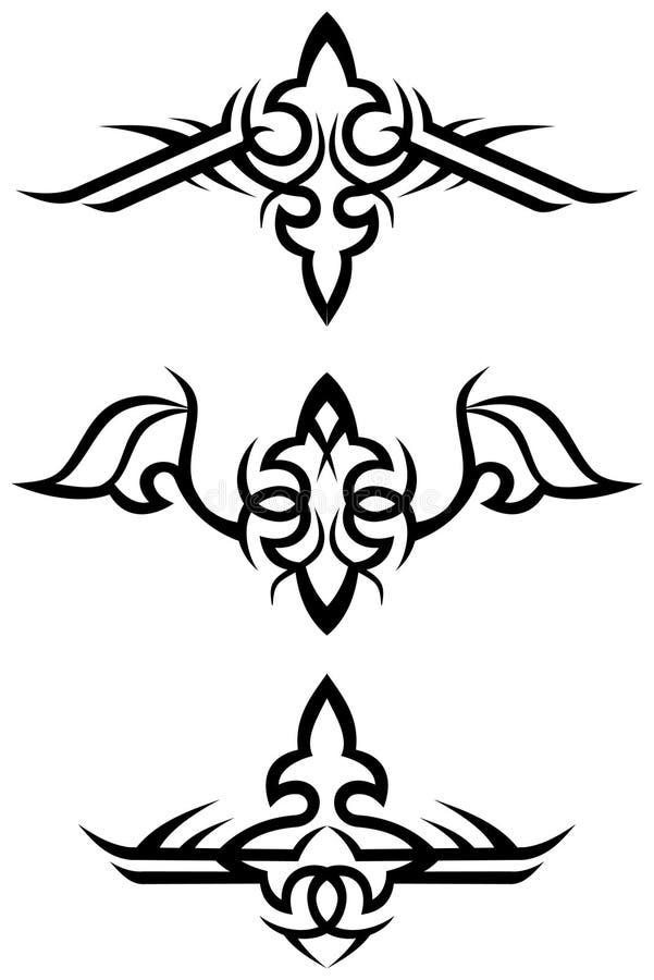 Stammes- Tätowierungauslegungen/Vektor vektor abbildung