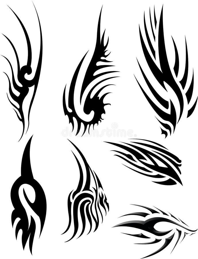 Stammes- Tätowierungssatz stockbilder