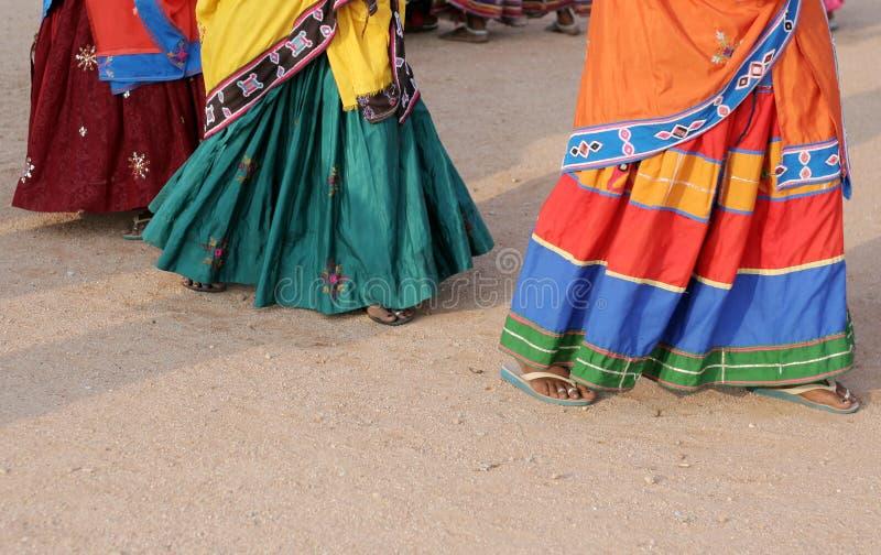 Stammes- Tanz indischer lamabada Frauen lizenzfreies stockfoto