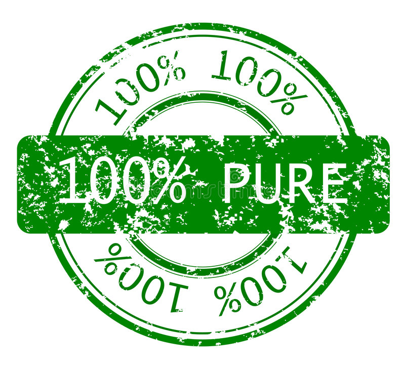 Download Stamp With 100% PURE Royalty Free Stock Photo - Image: 9311765