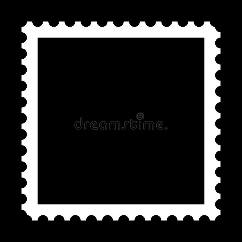 Stamp. Square stamp with copy space on black background vector illustration