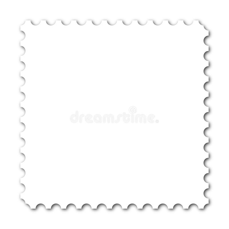 Stamp. Square stamp with copy space on white background stock illustration