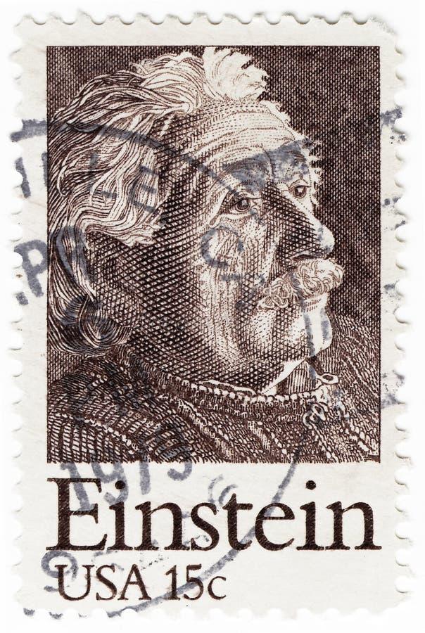 Download Stamp with Albert Einstein editorial photo. Image of post - 10421986