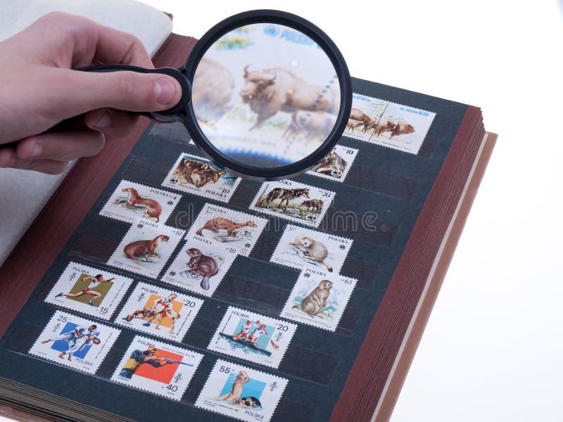 Stamp album stock photography