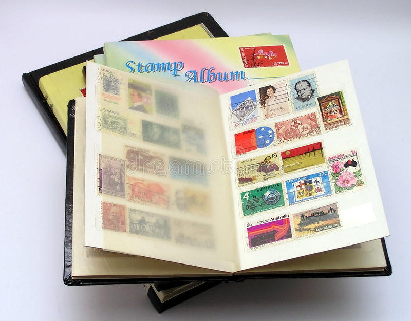 Download Stamp album stock image. Image of stamps, pasttime, postal - 163703