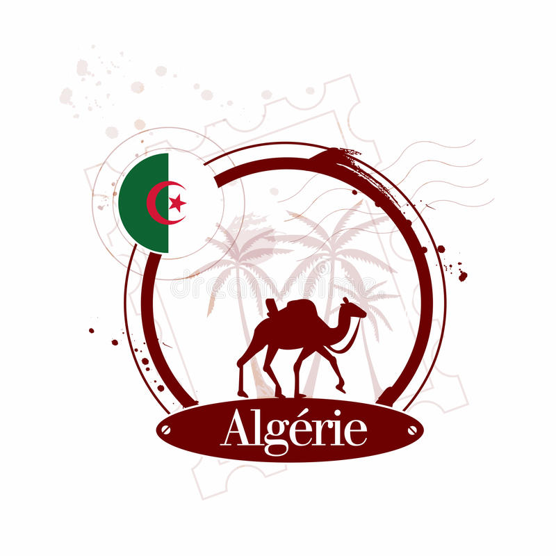 Download Stamp Algeria stock vector. Illustration of music, french - 28299595