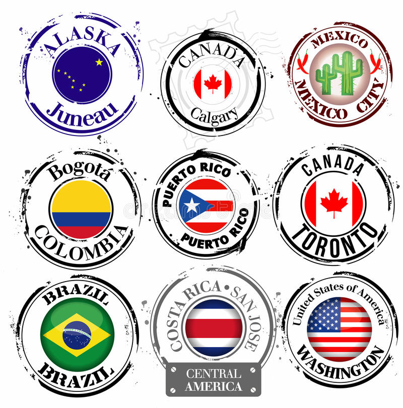 Download Stamp of American capitals stock illustration. Image of cold - 28911431