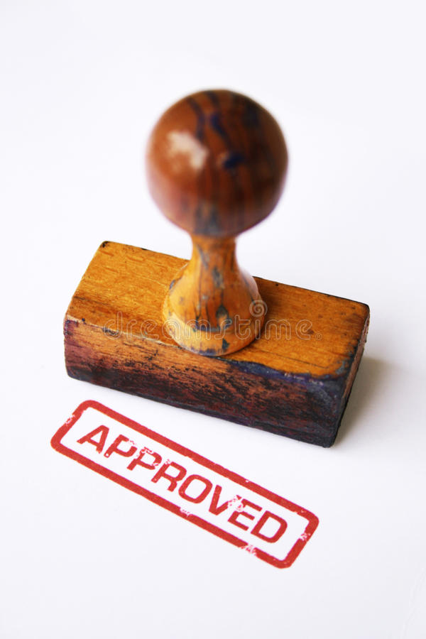 Stamp approved royalty free stock image