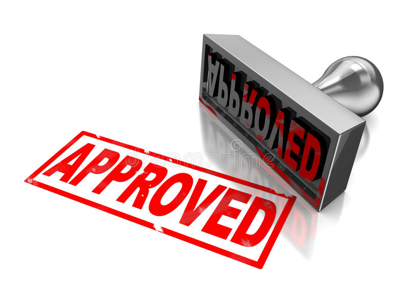 Stamp approved royalty free illustration