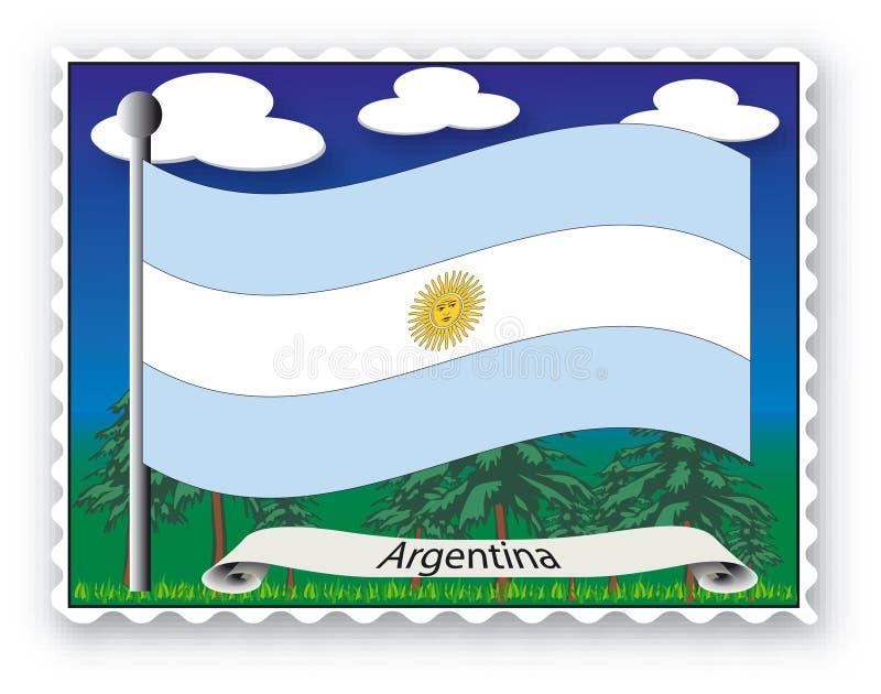 Stamp Argentina vector illustration
