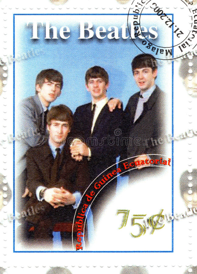 Download Stamp with The Beatles editorial stock image. Image of commemorative - 10267704