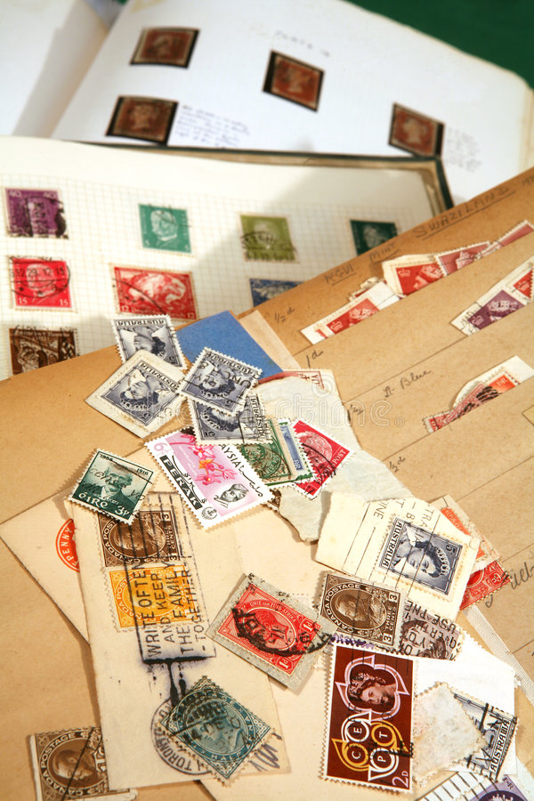 Stamp books royalty free stock images