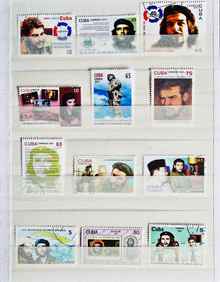 Stamp of Che Guevara. Cuban Stamp of Che Guevara royalty free stock image