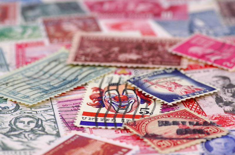 Stamp Collecting 4 royalty free stock photos