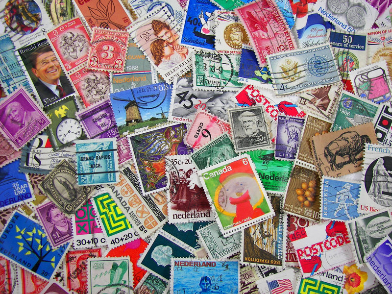 Download Stamp Collection stock image. Image of costly, color, postmark - 2314273
