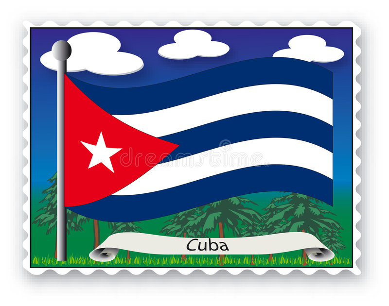 Stamp Cuba stock photography