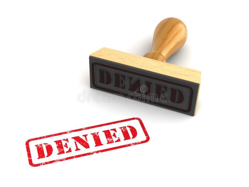 Stamp Denied stock illustration