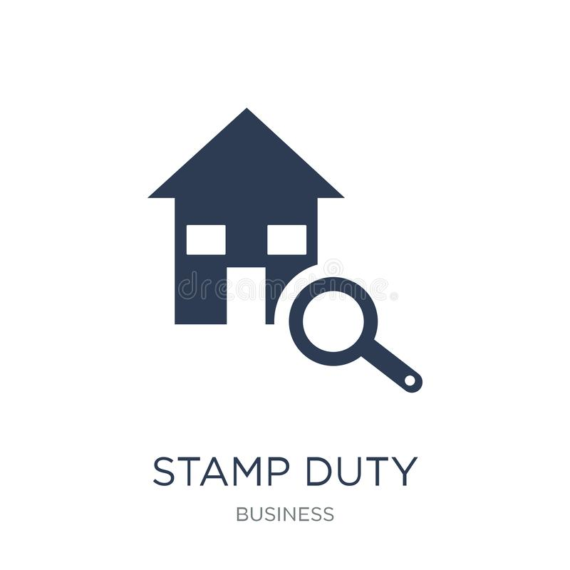 Stamp duty (housing) icon. Trendy flat vector Stamp duty (housing) icon on white background from business collection. Vector illustration can be use for web vector illustration