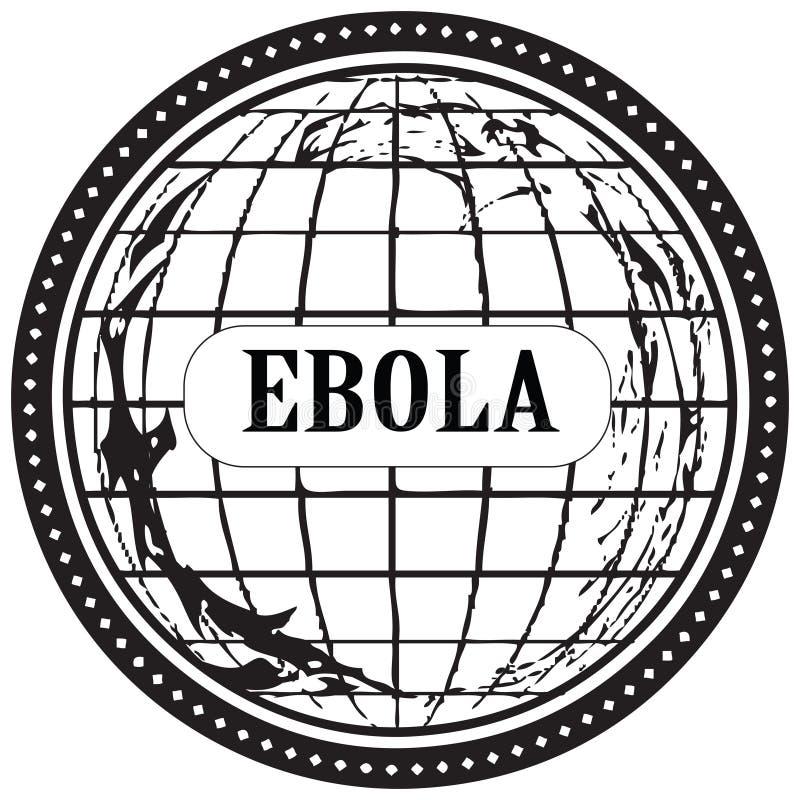 Stamp Ebola royalty free illustration