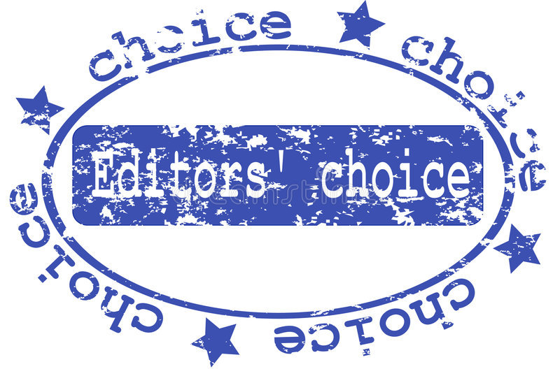 stamp with the editors choice vector illustration