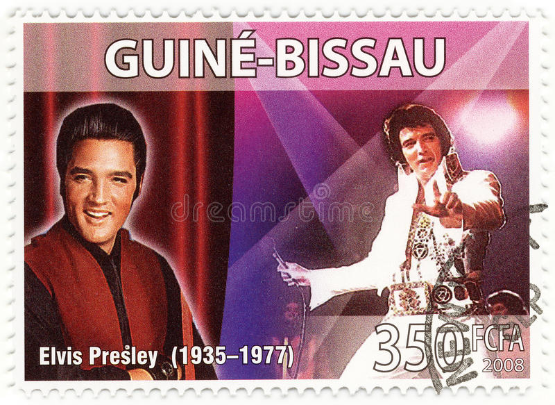 Stamp with Elvis Presley royalty free stock photos