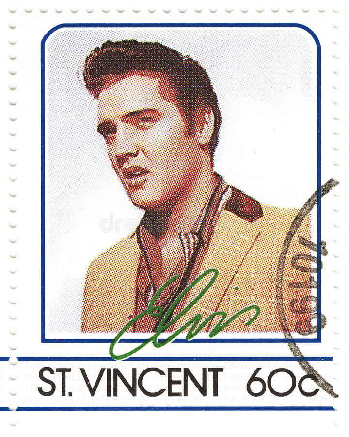 Download Stamp with Elvis Presley editorial stock image. Image of send - 10134234