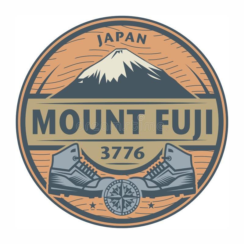Stamp or emblem with text Mount Fuji, Japan vector illustration