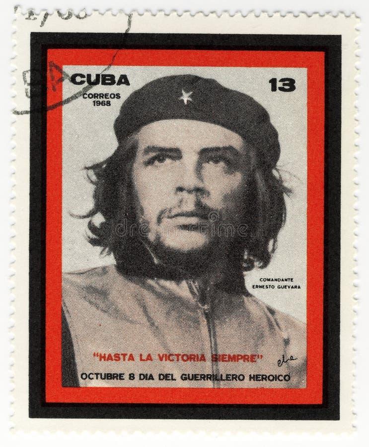 Stamp with Ernesto Che Guevara. Vintage cuba stamp with Ernesto Che Guevara stock images