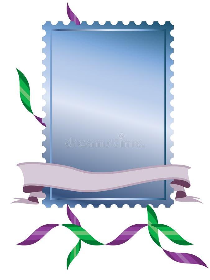 Stamp frame with banner vector illustration