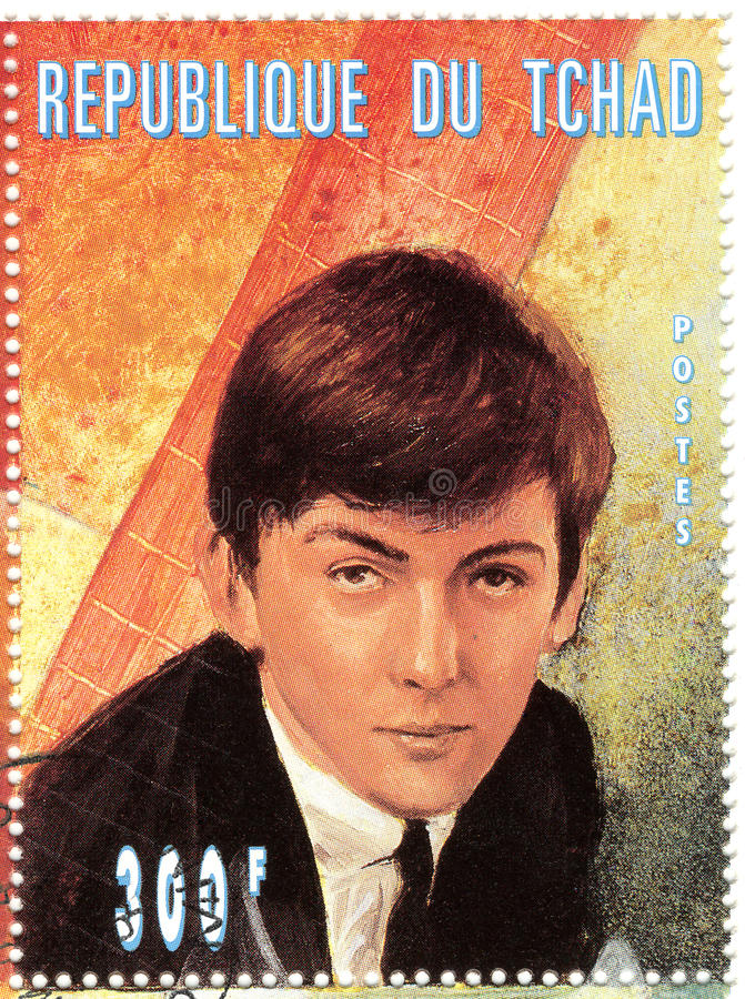 Stamp with George Harrison stock photography