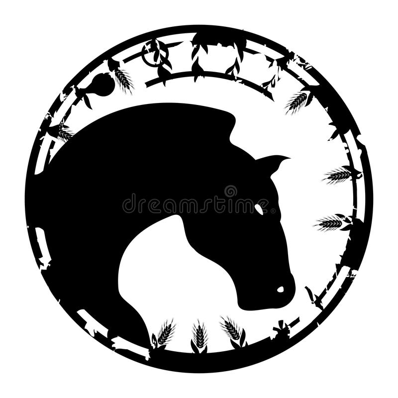Stamp A Horse Royalty Free Stock Photos